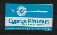 L2811 CYPRUS AIRWAYS EUROPE Middle East GULF STATES BOOKLET