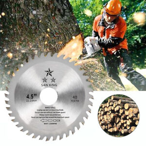 115mm 40 Tooth Circular Wood Saw Blade Disc Bore Cutting For Angle Grinder WL