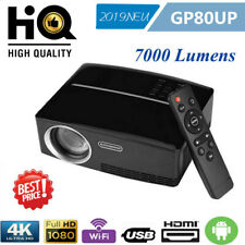 7000LM WiFi 4K HD 1080P LED Projektor Heimkino Beamer 1280 HDMI Blutooth Android
