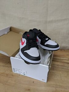 Authentic Jordan 1 Low Black Siren Red (W) DC0774-004 Size 7