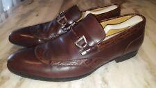 Pollini Loafers Casual Dress Shoe Crocodile Alligator embossed Horsebit. Sz 9.5D