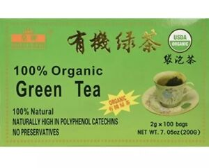 FRESH ! NEW 100 Bags Royal King 100% Natural Organic Green Tea USDA CERTIFIED