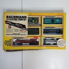 Bachmann Ho Scale Electric Train Set Vintage Burlington Locomotive w Power Pack