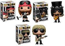 Axl Rose Slash Duff McKagan Guns N Roses POP! Rocks #50-52 Vinyl Figur Funko