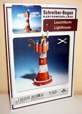 + KARTONMODELLBAU  LEUCHTTURM  SCHREIBER-BOGEN 604  Bastelbogen Cardboard Model