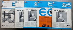 5x Krafthand 1,2,3,4,5,/1970, Kraftfahrzeug-KFZ-Wirtschaft