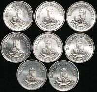Mix Of Jersey Elizabeth II 5 Pence Coins | Cupro-Nickel | Bulk Coins | KM Coins