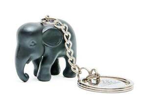 ELEPHANT PARADE SILICONE KEYRING BLACK ELEPHANT