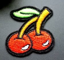 Red Cherry Embroidered Iron Sew On Patch Applique Badge Motif
