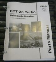 Gehl CT7-23 Telescopic Handler Parts Manual 913221