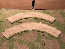 """28mm, 3""""  Large 1/4 turn road sections,  2pc,  PAINTED"""