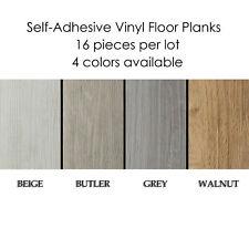 Self-Adhesive Vinyl Planks Hardwood Wood Peel 'N Stick Floor Tiles- 16 Pieces