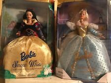 Barbie as Cinderella and Snow White dolls, Children's Collectors Series, Nrfb