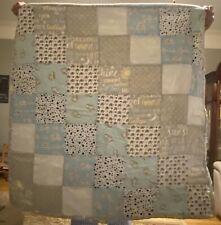 Price Lower - Handmade Baby Quilt - Boy