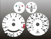 1989-1995 BMW E34 5 Series Dash Cluster White Face Gauges 89-95 525