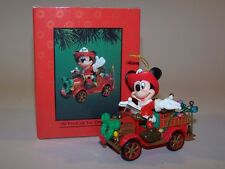 Enesco Treasury of Christmas Ornaments, Mickey Mouse, All Fired Up for Christmas