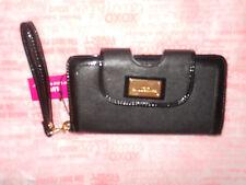 Lulu Guinness Black Wristlet Wallet Purse Clutch *new*
