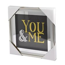You & Me Silver Frame Classy & Fabulous Range Wall Art Frames Plaques