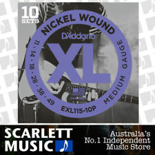 D'Addario EXL115-10P 10 Sets Nickel Wound Guitar Strings, EXL-115 11 - 49