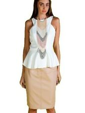 The Honey and Beau Ophelia Sleeveless White Top , Summer Tops Size 8
