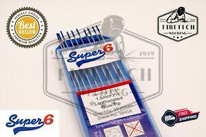 x1Piece TIG WELDING TUNGSTEN ELECTRODES Blue 2% Lanthanated - 1.6/2.4mm - Super6