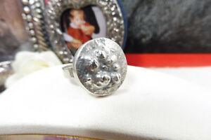 Vintage 70's Erik Granit Finnish Designer St Silver Modernist Acorn Ring Size M