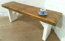 X-Wide F&B Painted 5ft Rustic Reclaimed Old Pine Dining Plank Table Chair BENCH
