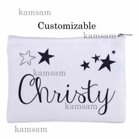 Personalised canvas makeup bag custom cosmetic bag bridesmaid hen party gift a