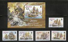 Jersey SC # 1190-1194 Bicentenary Of the battle Of Trafalgar.  MNH