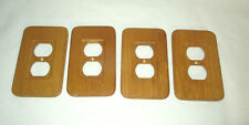 Amerelle Amertic Solid Wood Outlet Plate Covers x4 rounded