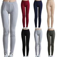 Women High Elastic Waist Stretch Leggings Trousers Slim Fit Straight Sport Pants