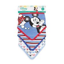 Disney Mickey Mouse Baby Boys' 3-Pack Bandana Bibs Cotton