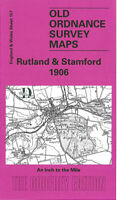 OLD ORDNANCE SURVEY MAP RUTLAND STAMFORD 1906 KETTON OAKHAM WANSFORD WITTERING