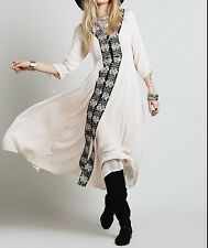 97414 NEW $168 Free People Journey To The Horizon Embroidered Maxi Dress M 10 US