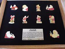 10 COCA COLA !!! NICOLAUS  PINS  !!! IM RAHMEN LIM EDT