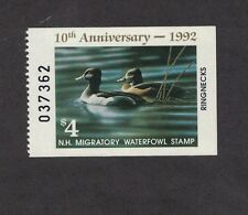NH10h - New Hampshire State Duck Stamp. Hunter Type Single. MNH. OG.