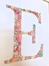 Embellishment Button Diamond Letter Baby Christening Newborn Gift Frame Art
