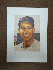 12 x 15 Printer's Proof BOB FELLER Marriott Corporation LE Autograph Auto PL1