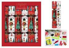 12 Luxury Christmas Crackers, Nutcracker Soldier & Christmas Tree Design - RSW