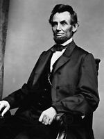 Vintage Photography Portrait Abe Abraham Lincoln President Canvas Art Print