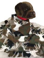 Camouflage Holiday Deer Fuzee Fleece Dog Blankets, Soft Pet Blanket cover