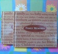 Set of 2 Family Memories Tan & Brown 14 page Photo Albums~ Holds 18 Photos~ EUC!