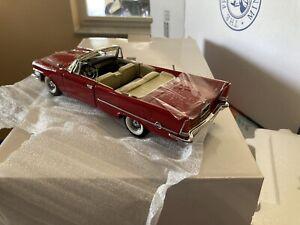 FRANKLIN MINT 1957 Red Chrysler 300 Conv. LE 190/500 (Rare) 1/24 Scale. S11E129