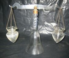 VINTAGE RARE Glass Scale Balance Scale Pharmacy Apothecary Rx Pharmacy Unusual