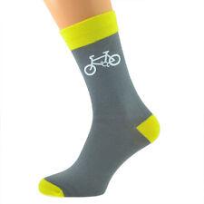 Diseño Gris y Amarillo Bicicleta Calcetines para hombre X6TC004-182