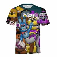 Five Nights at Freddy's Boys T-shirt Freddie Fazbear's Pizza Short Sleeve Tops