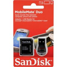 SanDisk MobileMate Duo microSD USB card reader  with Adapter -UK