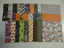 HALLOWEEN SCRAPBOOK PAPER CARDS 6X6 VARIETY ART CRAFT STACK LOT