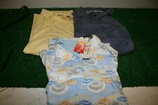 Lot 3 Tommy Bahamas XL Men's Shirts Polo Button Up Relax Camp