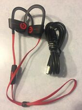 AUTHENTIC Beats by Dre PowerBeats 2 Wireless Headphones - Black & Red